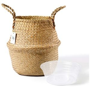 Seagrass Plant Basket - Hand Woven Belly Basket XL